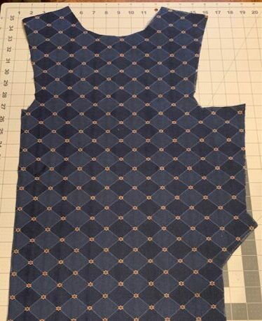 This is the back panel with all cuts made.