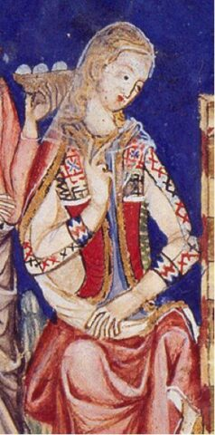 Detail from The Book of Games of Alfonso X, from the early 1280s.